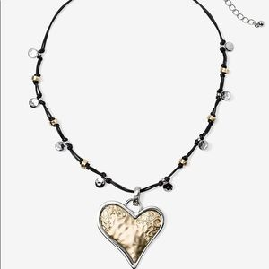 Reversible Chico's Heart necklace NWT